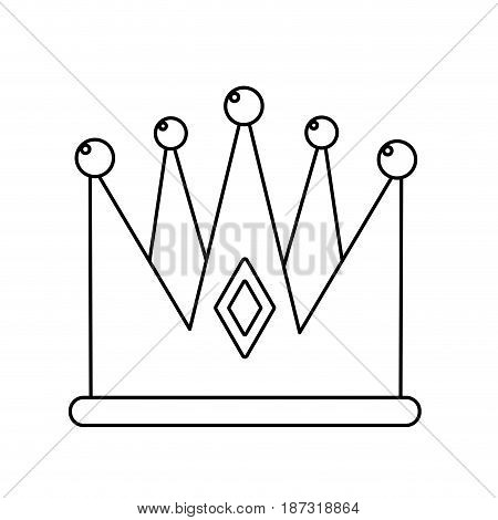 line nice crown of king to glory and pawer, vector illustration