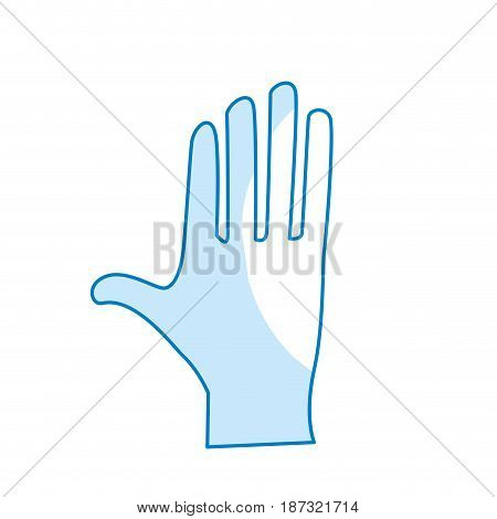 silhouette cute human hand with all fingers, vector illustration