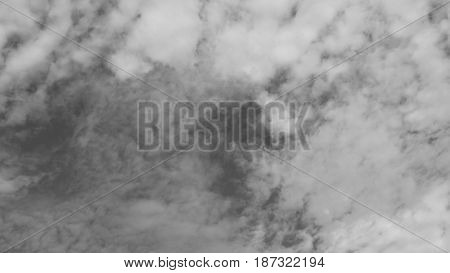 Black and white sky and nice white cloud for background.