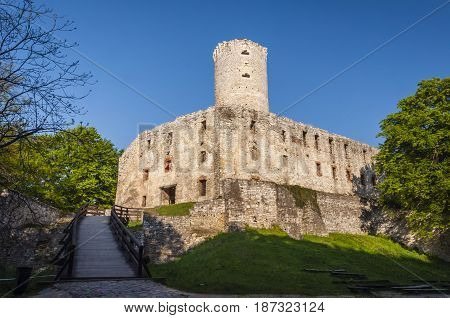 Lipowiec Castle - Ruins Of The Kraków Bishops Castle In The Polish Jura In The Village Of Babice.