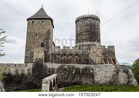 Gothic Castle Of Bedzin On Silesia In Poland.