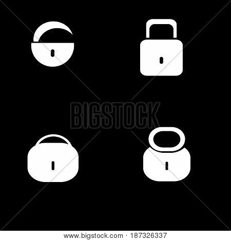 vector icon to close the lock on isolated background