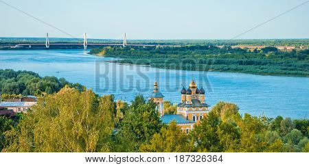 The ancient Russian provincial town of Murom on the banks of the Oka River