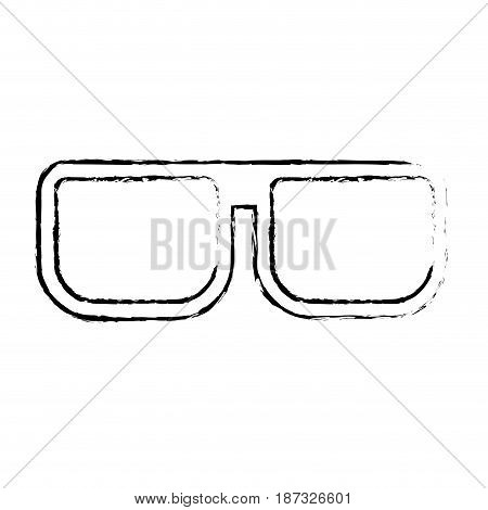 figure nice glasses accessory to can see, vector illustration