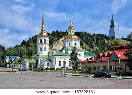 Editorial.Khanty-Mansiysk Yugra Russia June 27 2011 Church of the Protection of the Holy Virgin