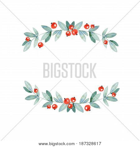 Floral branch. Element for design. Isolated on white background