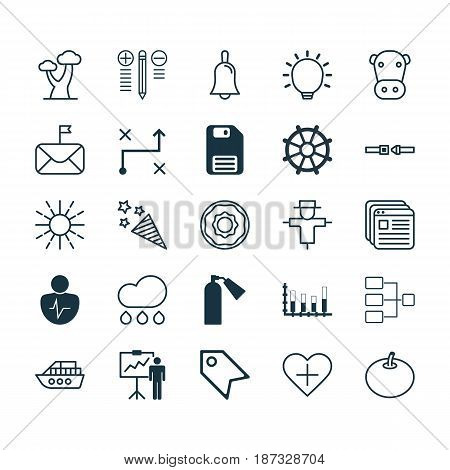 Set Of 25 Universal Editable Icons. Can Be Used For Web, Mobile And App Design. Includes Elements Such As Website Bookmarks, Favorite Person, Personal Character And More.