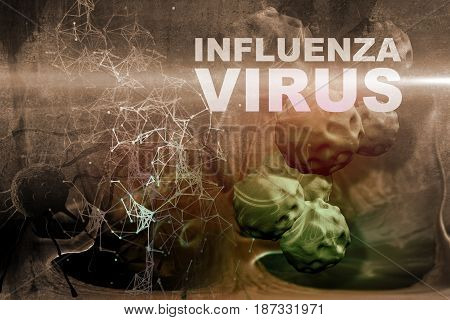 Illustration Of Influenza Virus Cells