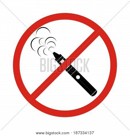 vaping icons no vaping (no smoking) sign. No vaping area notification