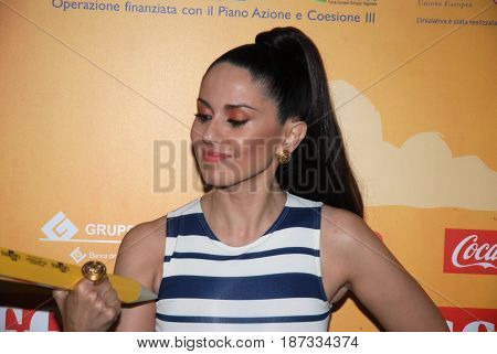 Giffoni Valle Piana Sa Italy - July 21 2014 : Paola Iezzi at Giffoni Film Festival 2014 - on July 21 2014 in Giffoni Valle Piana Italy
