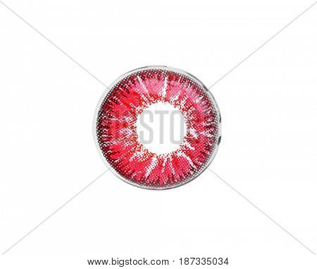 Color contact lens on white background