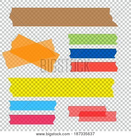 Set of accept cross and different size adhesive tape