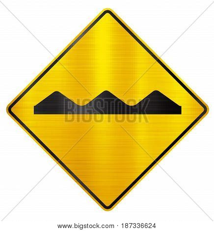 bumpy road sign traffic hump  warning illustration