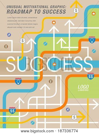 The road to success is mapped out in this colorful graphic