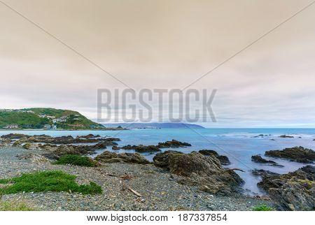 Taputeranga Marine Reserve is located on Wellington 's South coast covering Island Bay Owhiro Bay and Houghton Bay Wellington North Island of New Zealand