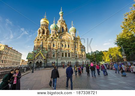 Cathedral of Our Savior on Spilled Blood 14 September 2016 Saint-Petersburg Russia