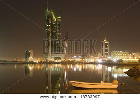 Bahrain cityscape in the night