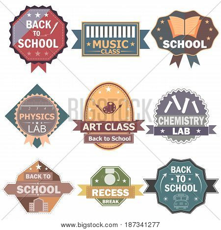 vector illustration of Back to School label tag sticker for Advertisement