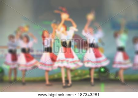 Dance On The Stage- Blurry Background