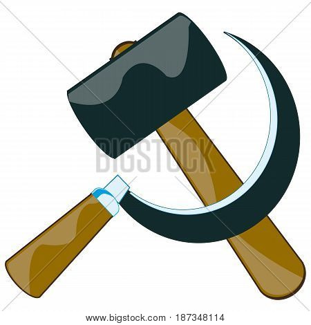 Illustration of the contour hammer and sickle