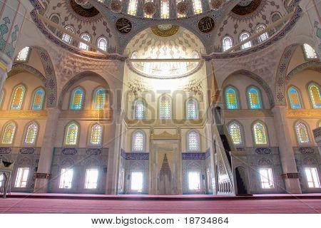 Interior of Kocatepe Mosque in Ankara, Turkey poster