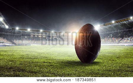 American football arena. Mixed media . Mixed media