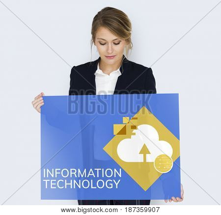Information Technology Cloud Storage Concept