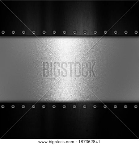 Metal plate texture background with rivets
