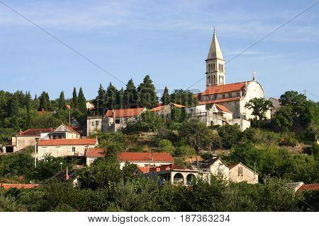 Nerezisca village in the middle of Brac island
