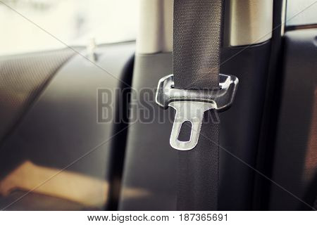 Seat belt in the car for your safety.