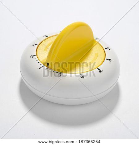 Kitchen egg timer isolated on white background.