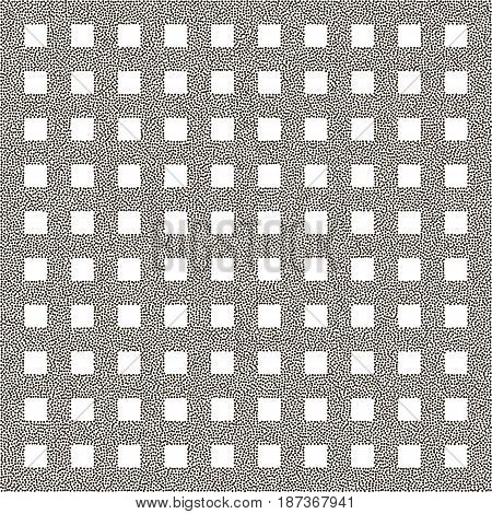 Grid Of Points. Abstract Lattice. White Background. Stipple Effect. Vector Illustration