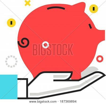 Color Box Icon, Wealth Protection Illustration, Icon