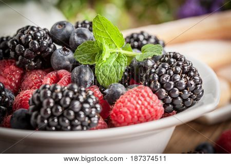 Mix Of Berries In A Bowl.