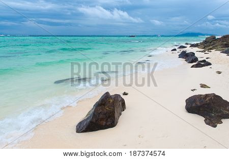 Beach on the Bamboo island in Kraby