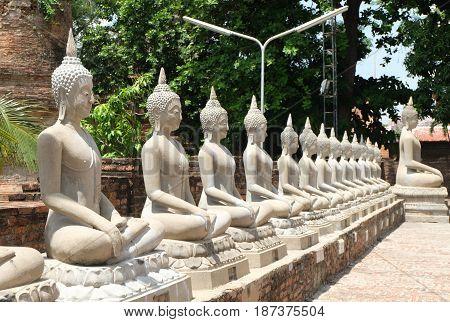 Thai ancient buddha,Thai ancient buddha statue. Thailand.