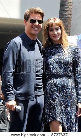 Tom Cruise and Sofia Boutella at Universal Celebrates