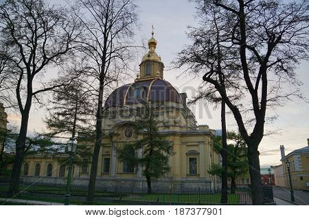Peter and Paul fortress. Cathedral of the Holy apostles Peter and Paul. Grand-Ducal burial-vault. Saint-Petersburg.