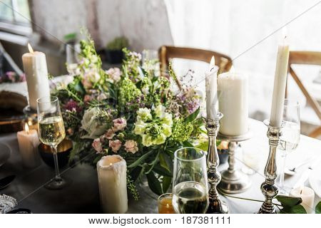 Ormate decoration for wedding ceremony romance dining