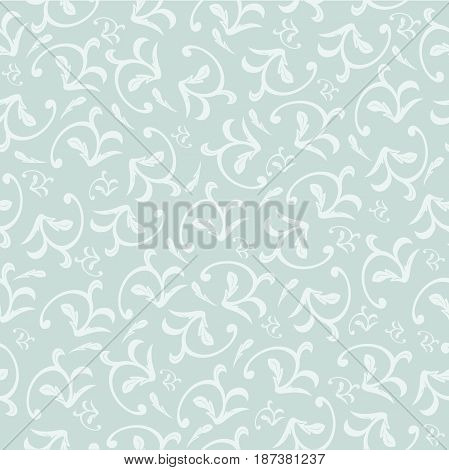 seamless damask pattern white and blue. Vintage ornament. background for wallpaper printing on the packaging paper textiles tile.