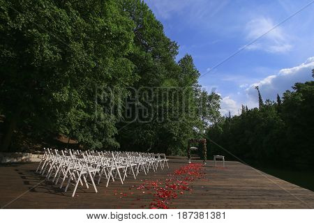 Wedding Setup. Wedding Ceremony.