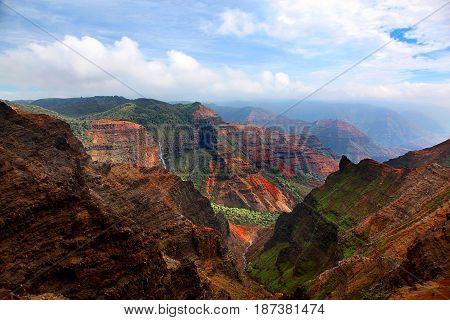 Breathtaking view of Waimea Canyon in Kauai Hawaii