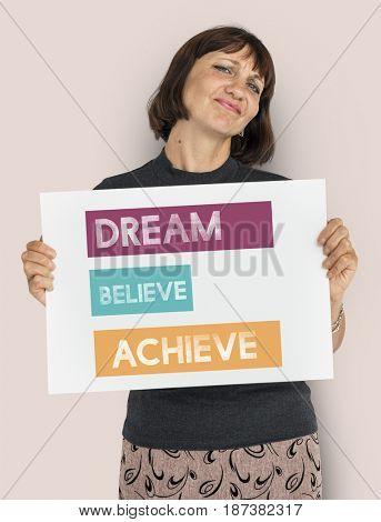 Dream Believe Achieve Accomplishment Motivation