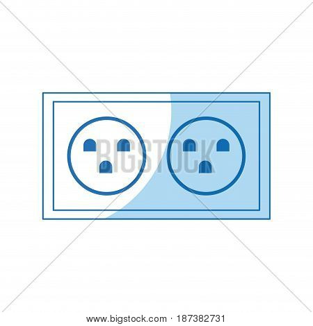 electric socket power double design vector illustration