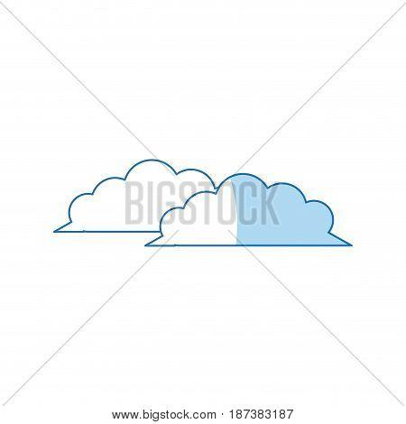 weather cloud climate environment design vector illustration