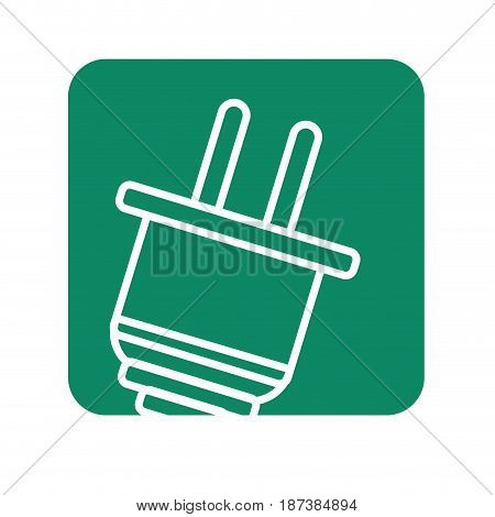 label power cable to cannect in the energy, vector illustration design