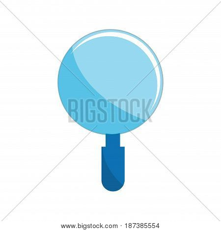 magnifying glass tool to search and read, vector illustration