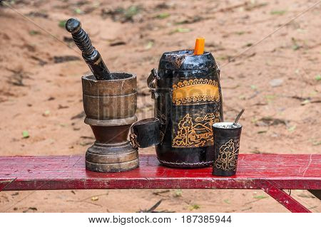 Terere drink similar to mate but prepared with cold water. It is originally from Paraguay