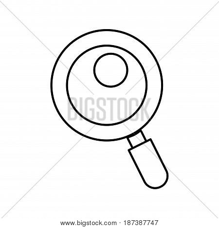 line magnifying glass tool to search and read, vector illustration