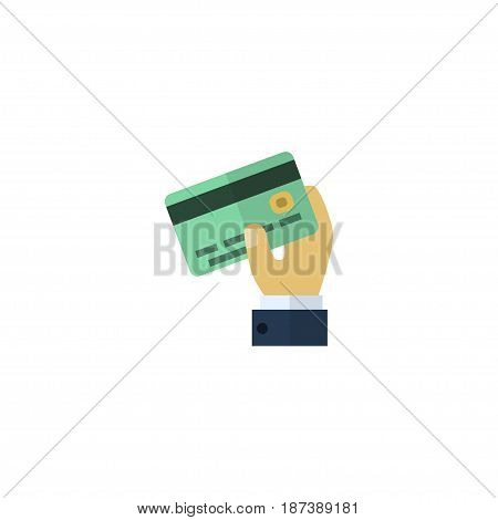 Flat Credit Element. Vector Illustration Of Flat Card Isolated On Clean Background. Can Be Used As Credit, Card And Payment Symbols.